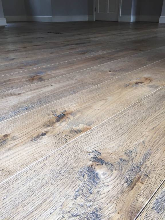 Distressed floor